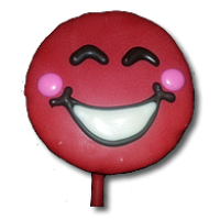 Smiley Crazy Red