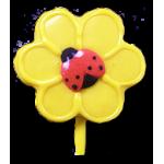 Mini Yellow Flower Ladybug